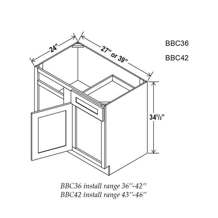 Blind Corner Base Cabinet   Craftwood Products for ...
